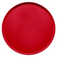 "Camtray 1950521 19-1/2"" Cambro Red Low Profile Round Tray - 12 / CS"