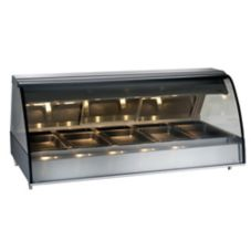 Alto-Shaam TY2-72/P-BLK Front Opening Heated Deli Display Case
