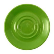 "Steelite Performance Simplicity Fern Carnival 4-5/8"" Double Well Saucer"