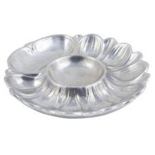 Bon Chef 5080 Pewter Aluminum Seafood / Artichoke Plate - 6 / CS