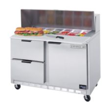 Beverage-Air SPED48-12M-2 Elite Refrigerated 1-Door Mega Top Counter