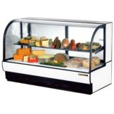 True® Curved Glass Refrigerated Deli Display Case, 43 Cubic Ft