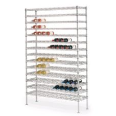 Metro WC257C Super Erecta Chrome 14 x 48 x 74-3/4 Cradle Wine Shelving