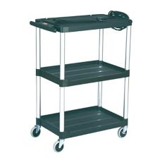 Rubbermaid® FG9T3000BLA 3 Shelf Audion Visual Cart