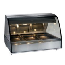 Alto-Shaam TY2-48/P-BLK Front Opening Heated Deli Display Case