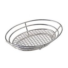 "Clipper Mill 4-84814 Stainless Steel 12"" x 9"" Oval Basket"