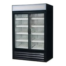 Beverage-Air LV45-1-B LumaVue Black Reach-In Refrigerated Merchandiser
