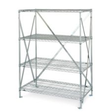 "Metro® SA24EC Super Erecta® Seismic End Kit For 24"" Wide Shelf"