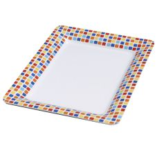 Carlisle 44417917 Designer Displayware Spanish Rectangular Platter