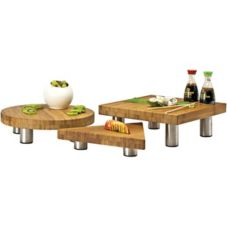 Buffet Euro BBS3000D 3-Piece Eco Amigo Bamboo Butcher Block Set