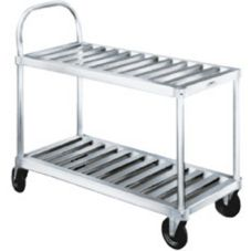 Win-Holt® Open Base Sani Stock Cart with Two Shelves
