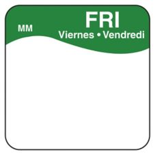 "DayMark 1100345 MoveMark Trilingual 1"" Friday Day Square - 1000 / RL"