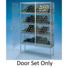 "Metro® ED57C 51"" x 60"" Wine Shelving Door Set"