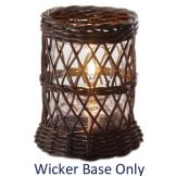 "Candle Lamp® 5"" Brown Wicker Lamp Base"
