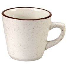 Vertex® China Caravan Brown Speckled Double Band 7 Oz Coffee Cup