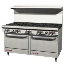 Southbend S60DD Natural Gas 10-Burner Range w/ 2 Standard Ovens