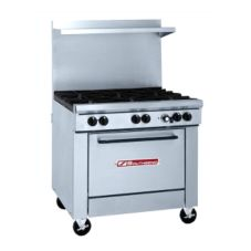 "Southbend S36D 6 Burner 36"" Gas Range with Oven and Casters"