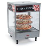 NEMCO 6450 Rotating 3-Shelf Hot Pizza Or Pretzel Merchandising Case