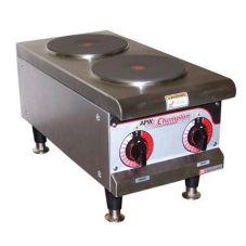 APW Wyott SEHPI-208 Electric 208V Hot Plate with 2 Solid Burners