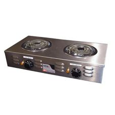 APW Wyott CP-2A Heavy Duty Double Electric Portable Hot Plate