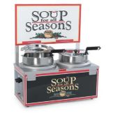 NEMCO 6510A-2D7P Countertop 7-Qt Double Well Soup Warmer W/ Thermostat
