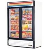 True® GDM-49F-LD White 2-Glass Door 49 Cu Ft Merchandiser Freezer