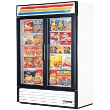 True® GDM-49F White 2-Glass Door 49 Cu Ft Merchandiser Freezer