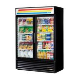True® Black Glass Door Refrigerator Merchandiser, 49 Cubic Ft
