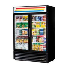 True GDM-49-LD Black Glass Door 49 Cu. Ft. Refrigerator Merchandiser