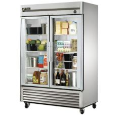 True® T-Series 2-Glass Full Door Reach-In 49 Cu Ft Refrigerator