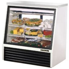 True® See-Thru Single Duty 16 Cu Ft Deli Case w/ 2-Rear Doors