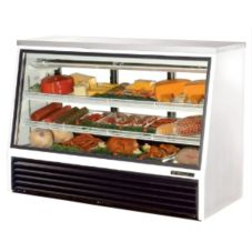 True® 3-Sliding Door 2-Shelf Single-Duty 24 Cu Ft Deli Case