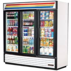 True GDM-72-LD White Glass Door 72 Cu Ft Refrigerator Merchandiser