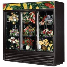 True GDM-69FC-LD Glass Swing Door 69 Cu Ft Floral Case Refrigerator