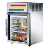 True® S/S Glass Door Countertop Refrigerator, 5 Cubic Ft