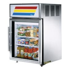 True® GDM-5-S S/S Glass Door 5 Cu Ft Countertop Refrigerator
