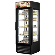 True G4SM-23 Black EXTERIOR 4-Sided Glass Door 23 Cu Ft Merchandiser
