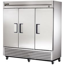 True® T-72 S/S 72 Cu Ft 3-Solid S/S Door Reach-In Refrigerator