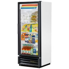 True GDM-12-LD White Glass Door 12 Cu Ft Refrigerator Merchandiser