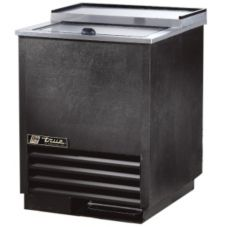True® Black 24 CF / 2-Shelf Glass and Plate Chiller / Froster