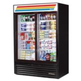 True GDM-47-LD Black Glass Door 47 Cu. Ft. Refrigerator Merchandiser