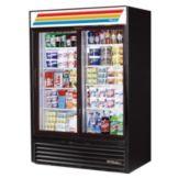 True GDM-47-LD Black Glass Door 47 Cu. Ft. Refrigerator Merchandiser