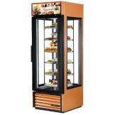 True G4SM-23-RGS-LD Copper 4-Glass Door Rotating Shelf Merchandiser