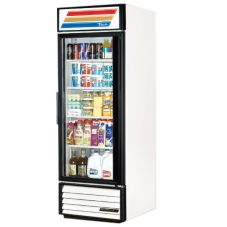 True GDM-23-LD White Glass Door 23 Cu Ft Refrigerator Merchandiser