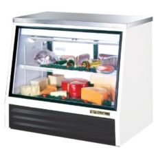 True TSID-48-2-L 2-Sliding Door 1-Shelf Low-Height 17 Cu Ft Deli Case