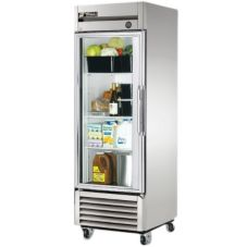 True® T-Series Glass Full Door Reach-In Refrigerator, 23 Cubic Ft