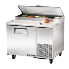 True TPP-44 1-Door 2-Shelf S/S Pizza Prep Table With White Interior