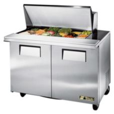 True TSSU-48-18M-B S/S 18-Pan Top Sandwich / Salad Unit With Casters