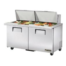 True TSSU-60-24M-B-ST S/S 15.5 Cu Ft 24-Pan Top Sandwich / Salad Unit
