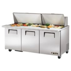 True TSSU-72-30M-B-ST S/S 19 Cu Ft 30-Pan Top Sandwich / Salad Unit